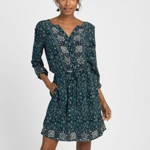 Faherty Dresses - NWT $328 Faherty Hannah Dress navy bohemian vines